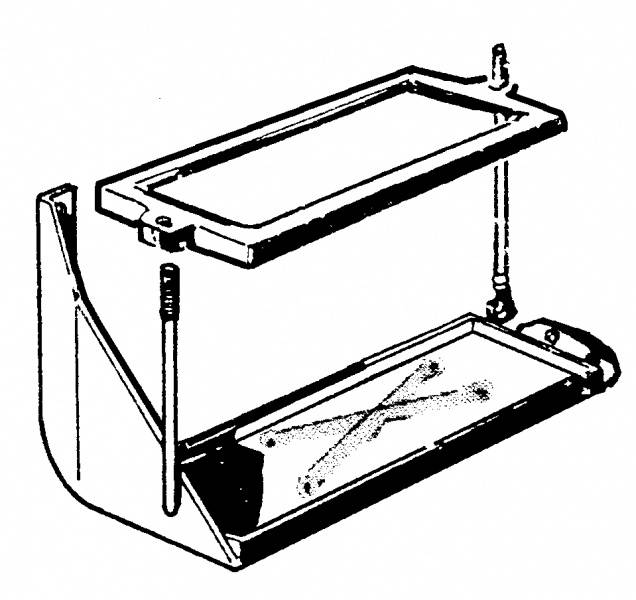 1956 ford f-100 battery tray 56-56  group 24 battery