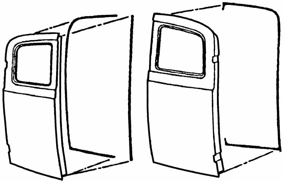 1948-52 ford f-100 panel rear door weatherseal  48-52