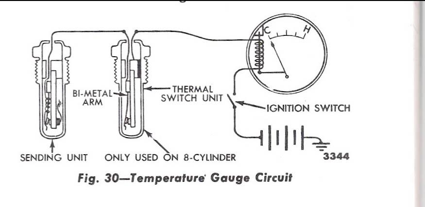 1948-56 Ford F-100 Temperature Sender, 12 Volt, Original - B6C-10884   Ford Temperature Gauge Wiring Diagram      Mid Fifty F-100 Parts
