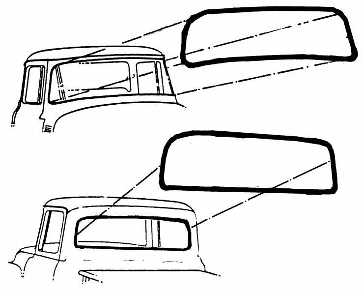 1953-56 ford f-100 weatherstrip  rear window 53-56 standard
