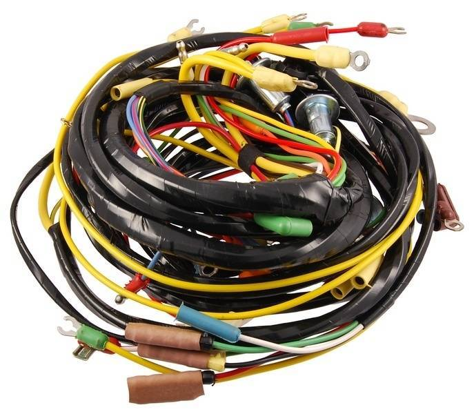 1954 Ford F-100 6 Volt 54, 8 Cylinder Wiring Harness, With ...