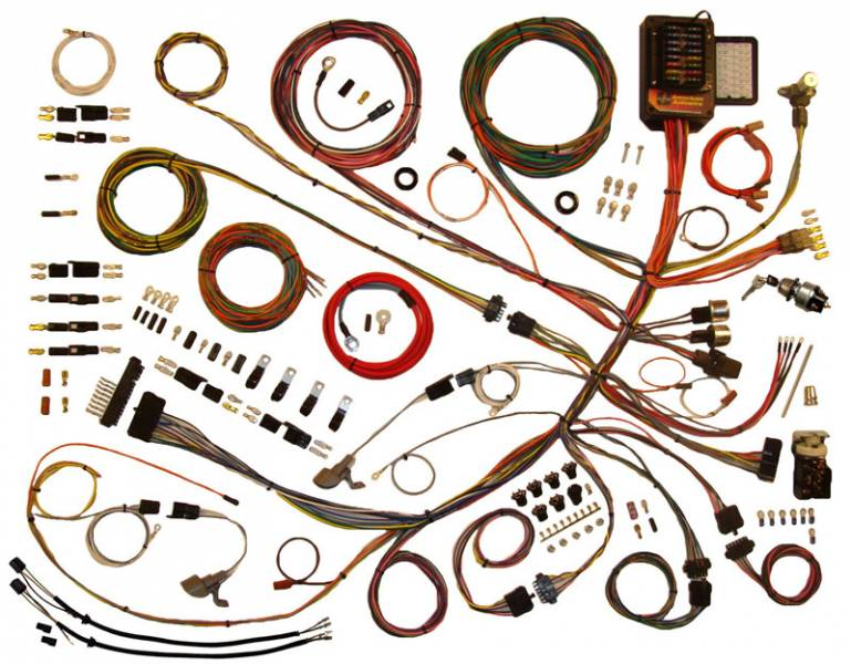 20280-23606  F Wiring Harness on door parts, side view, custom paint, ford wheelbase, frame box kit, vent for, front end hood clip, dark blue, bolt engine supports, cab corner, lower cab replacement,