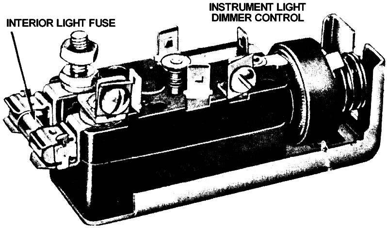 1955 Ford F-100 6 Volt Headlight Switch 1955 - 11654
