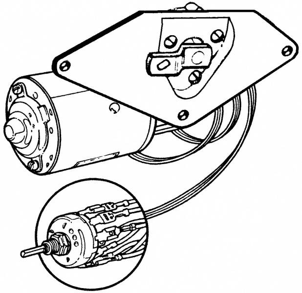 1956 60 Ford F 100 Wiper Motor Kit 56 60 Complete With Bracket And