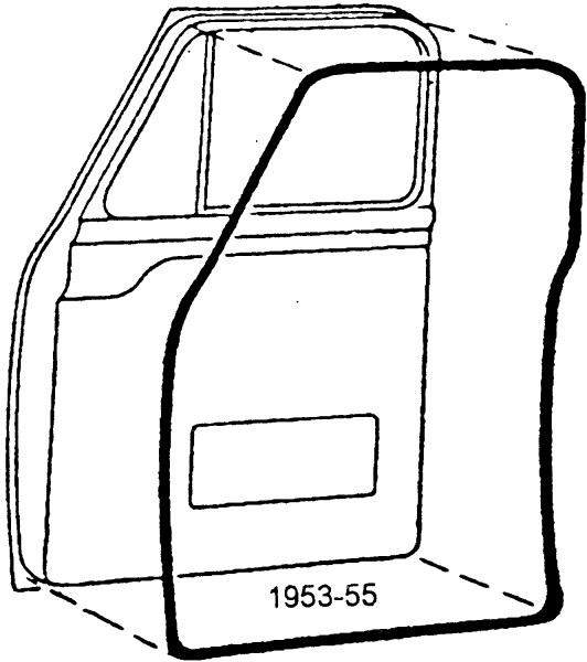 1953-55 ford f-100 door weatherstrip  53-55 exact of original  usa made