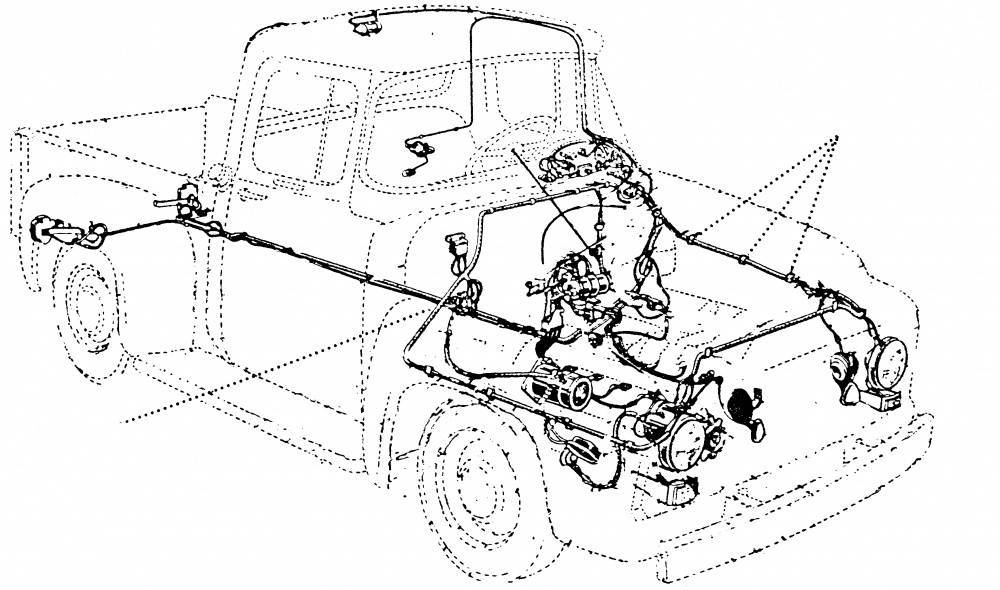 1953 56 Ford F 100 Wiring Harness
