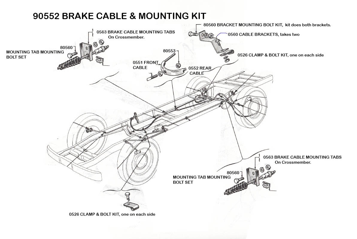 Parking Brake - Mid Fifty F-100 Parts