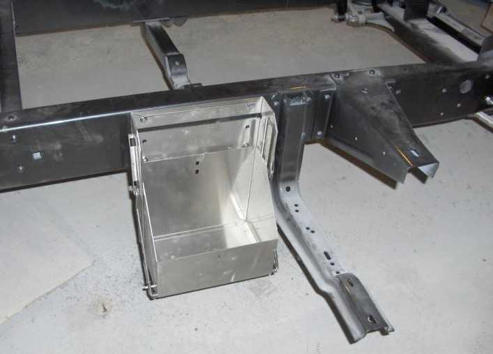 2016 Ford Trucks >> 1953-60 Ford F-100 Battery Box, Drop Down, Hinged, Size 24 ...