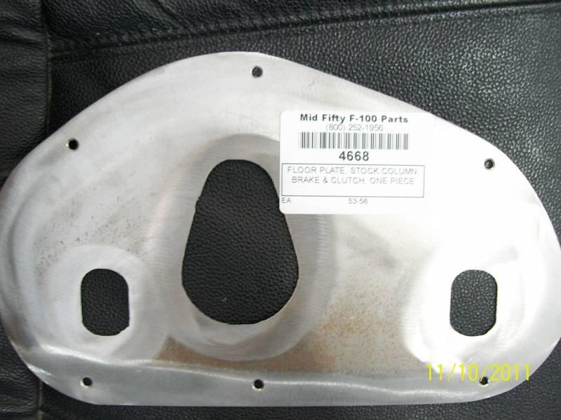 1953 56 ford f 100 floor plate middle stock column brake for 100 floor 56