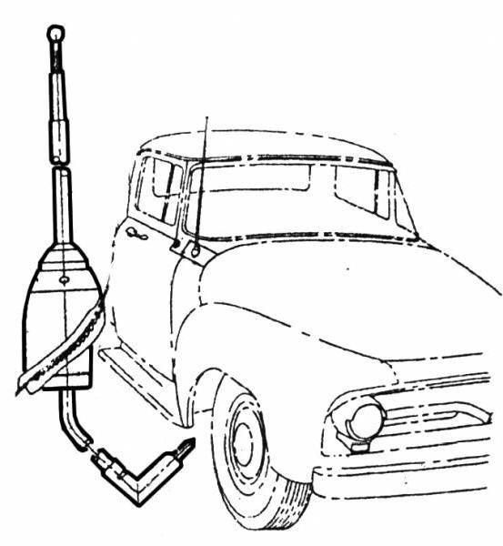 1956 ford f-100 radio antenna  original 1956